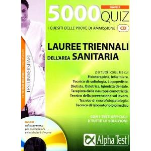 9801420 - 5000 QUIZ LAUREE TRIENNALI SANITA. CON CD-ROM