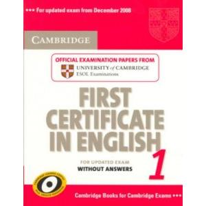 52938 - CAMBRIDGE FIRST CERTIFICATE IN ENGLISH 1 FOR UPDATED EXAM