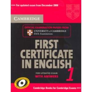 52977 - CAMBRIDGE FIRST CERTIFICATE IN ENGLISH 1 FOR UPDATED EXAM