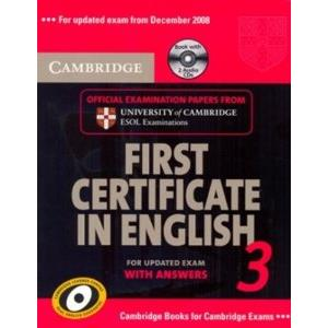 CAMBRIDGE FIRST CERTIFICATE IN ENGLISH 3 FOR UPDATED EXAM - SELF STUDY PACK