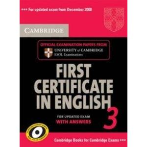 CAMBRIDGE FIRST CERTIFICATE IN ENGLISH 3 FOR UPDATED EXAM - STUDENT'S BOOK WITH ANSWERS