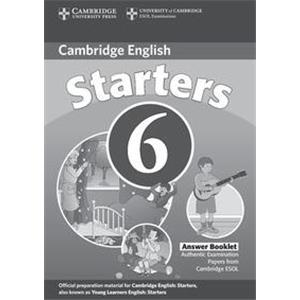 71689 - CAMBRIDGE YOUNG LEARNERS - ENGLISH TESTS - STARTERS 6 - ANSWER BOOKLET - 2ED.