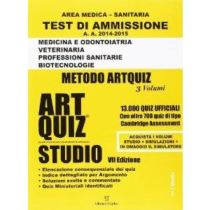 9795857 -  TEST DI AMMISSIONE AREA MEDICO SANITARIA   ART QUIZ   STUDIO 2014