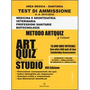 9929515 -  TEST DI AMMISSIONE AREA MEDICO SANITARIA   ART QUIZ   STUDIO 2015